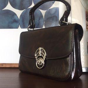 Jaclyn USA Art Deco Vintage Patent Bag